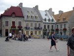 Quebec City - A square in the middle of old Quebec.